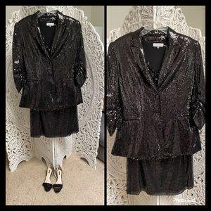 4 ⭐️ piece Calvin Klein Sequined Skirt suit ⭐️